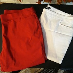 2 pair plus size capris